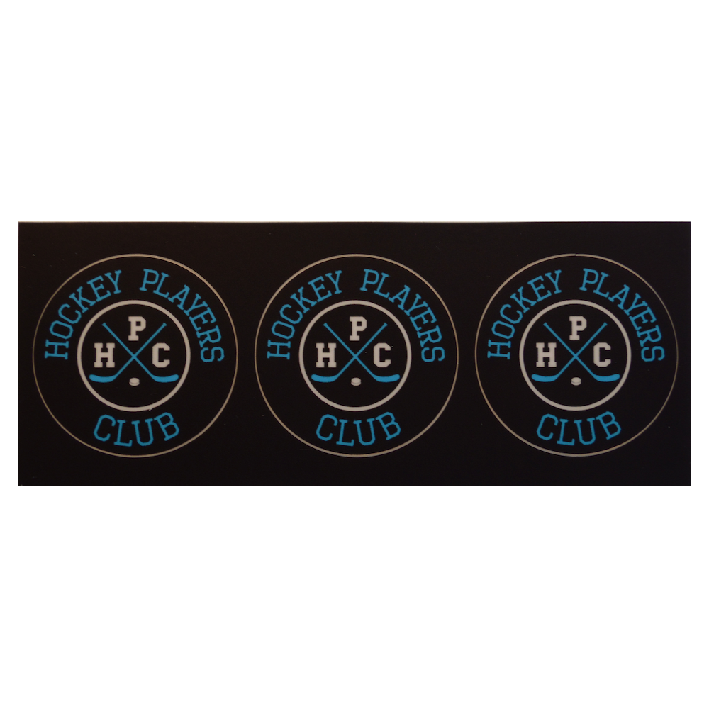 Hpc Small Stickers 3 Strip Hockey Players Club